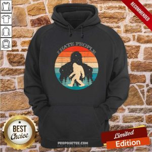 I Hate People Bigfoot Sasquatch Silhouette Sunset Hoodie-Design By Proposetees.com