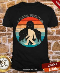 I Hate People Bigfoot Sasquatch Silhouette Sunset Shirt-Design By Proposetees.com