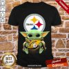 Hot Baby Yoda Pittsburgh Steelers Shirt-Design By Proposetees.com