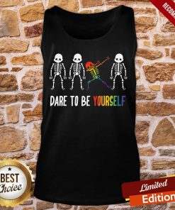 Nice Cool Skeleton Dare To Be Yourself Tank-Top- Design By Proposetees.com