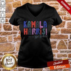 - Design By Proposetees.comNice Kamala Harris And Also Joe Biden Yard Sign V-neck
