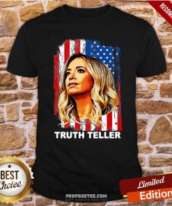 Official Kayleigh Mcenany Truth Teller American Flag Shirt - Design By Proposetees.com