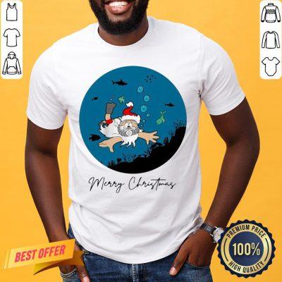 Official Santa Claus Dive Merry Christmas Shirt- Design By Proposetees.com