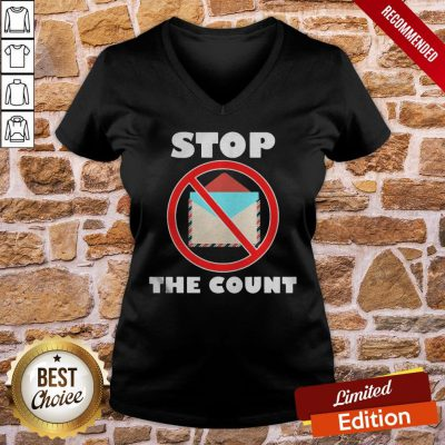 Official Stop The Count President Donald Trump Supporters V-neck- Design By Proposetees.com