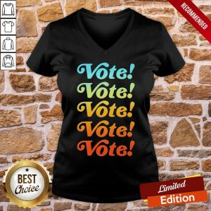 Top Vote Vote Vote 2020 V-neck- Design By Proposetees.com