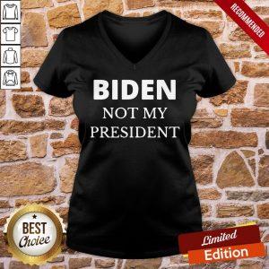 Original Biden Not My President V-neck- Design By Proposetees.com