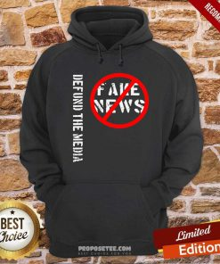 Defund The Media Fake News Hoodie-Design By Proposetees.com