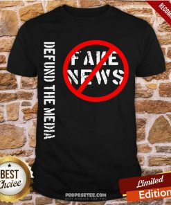 Defund The Media Fake News Shirt-Design By Proposetees.com