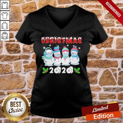 Original Snowman Face Make Christmas 2020 V-neck- Design By Proposetees.com