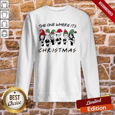 Original The One Where It's Christmas Sweatshirt- Design By Proposetees.com