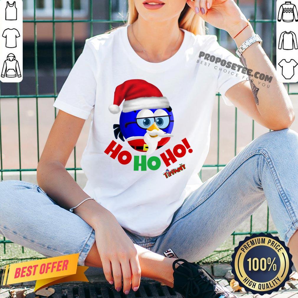 Original Tiffany Christmas Santa Enrique Ho Ho Ho!  V-neck-Design By Proposetees.com
