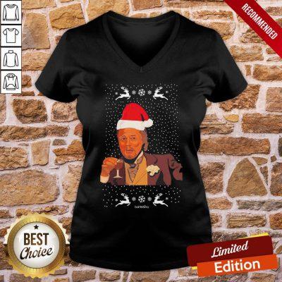 Perfect Leonardo Dicaprio Laughing Ugly Christmas V-neck- Design By Proposetees.com