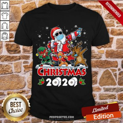 Perfect Santa And Friends Wearing Mask - New Christmas 2020 Shirt-Design By Proposetees.com