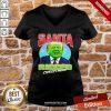 Santa Ricced Christmas Donald Trump Election V-neck-Design By Proposetees.com