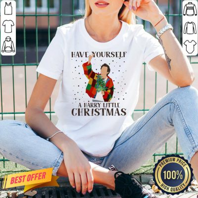 Premium Louis Tomlinson Have Yourself A Harry Little Christmas V-neck- Design By Proposetees.com