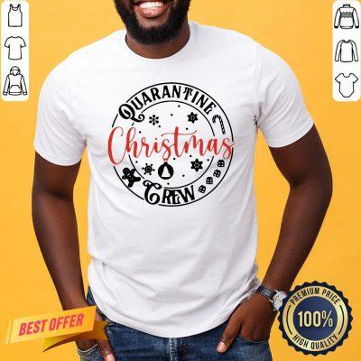 Premium Quarantine Christmas Crew Shirt- Design By Proposetees.com