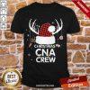 Premium Th Merry Christmas Cna Crew Santa Hat Antler Costume Nurse Shirt-Design By Proposetees.com