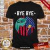 Happy Bye Bye Trump 2020 Trump Democratic Funny Vintage American Flag Shirt-Design By Proposetees.com