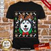 Top Cute Husky Ugly Sweater Christmas Shirt-Design By Proposetees.com