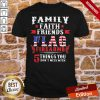 Top Family Faith Friends Flag Firearms 5 Things You Don't Mess With American Flag Shirt- Design By Proposetees.com