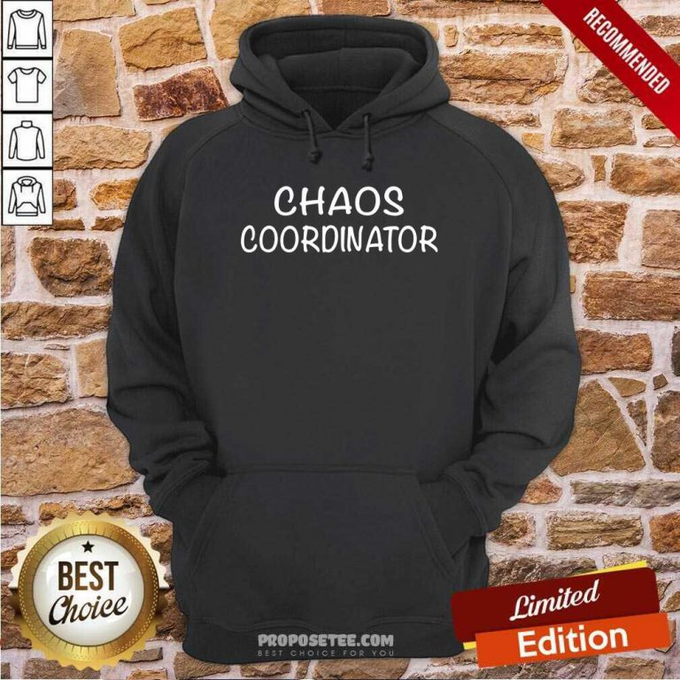 Chaos Coordinator Parenting Teacher Hoodie-Design By Proposetees.com