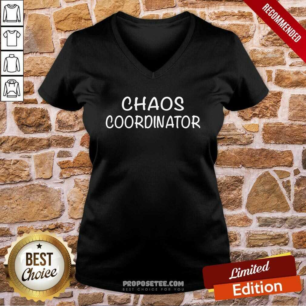 Chaos Coordinator Parenting Teacher  V-neck-Design By Proposetees.com