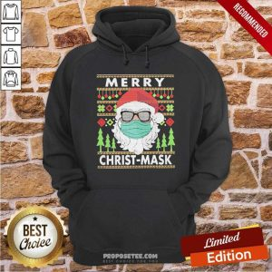 Santa Claus Mask Merry Christ Mask Ugly Hoodie-Design By Proposetees.com