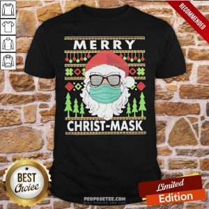 Santa Claus Mask Merry Christ Mask Ugly Shirt-Design By Proposetees.com