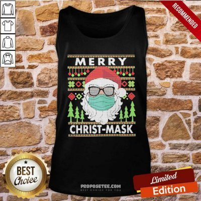 Santa Claus Mask Merry Christ Mask Ugly Tank Top-Design By Proposetees.com