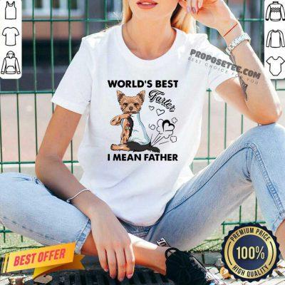 Yorkshire Terrier World's Best Farter I Mean Father V-neck-Design By Proposetees.com