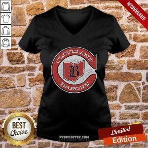 Cleveland Barons Hockey V-neck-Design By Proposetees.com