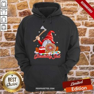 Gnome Viking Glaedelig Jul Christmas Hoodie-Design By Proposetees.com