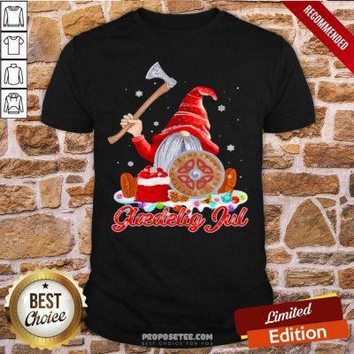 Gnome Viking Glaedelig Jul Christmas Shirt-Design By Proposetees.com