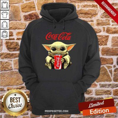 Star Wars Baby Yoda Hugs Coca Cola Soft Drink Hoodie-Design By Proposetees.com