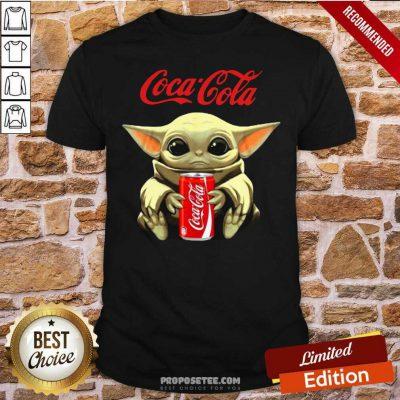 Star Wars Baby Yoda Hugs Coca Cola Soft Drink Shirt-Design By Proposetees.com