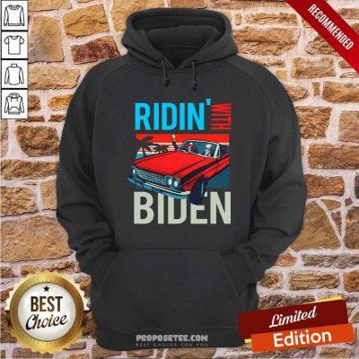 Car Riding With Biden Kamala Harris Joe Biden Vintage Retro Hoodie-Design By Proposetees.com