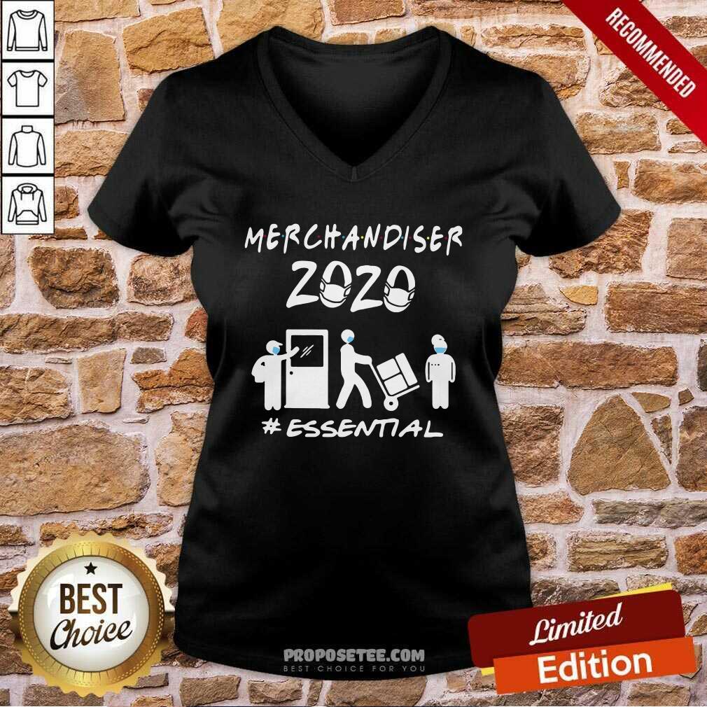 Merchandiser 2020 Essential Coronavirus V-neck-Design By Proposetees.com