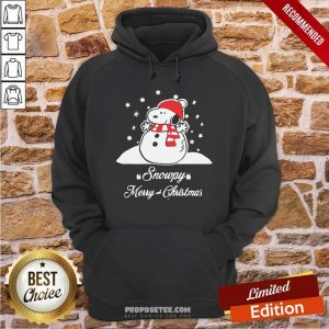 Snowpy Merry Christmas Sweater Christmas Snoopy Peanuts Hoodie-Design By Proposetees.com