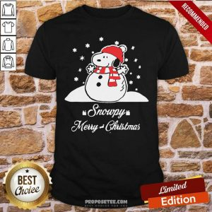 Snowpy Merry Christmas Sweater Christmas Snoopy Peanuts Shirt-Design By Proposetees.com