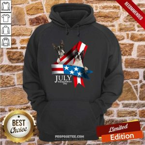 American Flag French Bulldog 4 Of July Independence Day Hoodie-Design By Proposetees.com