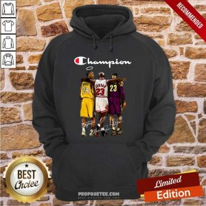 Kobe Bryant Michael Jordan Lebron James Champion Signatures Hoodie-Design By Proposetees.com