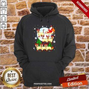 Santa Claus Riding Siamese Reindeer Merry Christmas Hoodie-Design By Proposetees.com