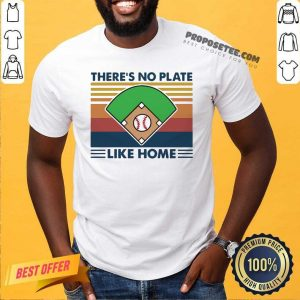Vintage Retro There's No Plate Like Home Baseball Shirt-Design By Proposetees.com