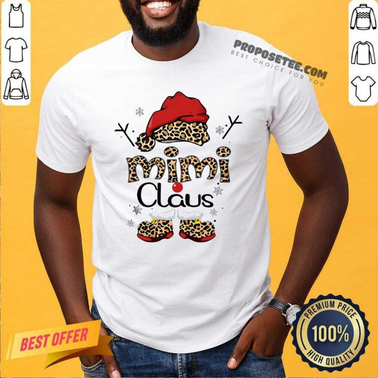 Leopard Mimi Claus Ugly Christmas Shirt-Design By Proposetees.com