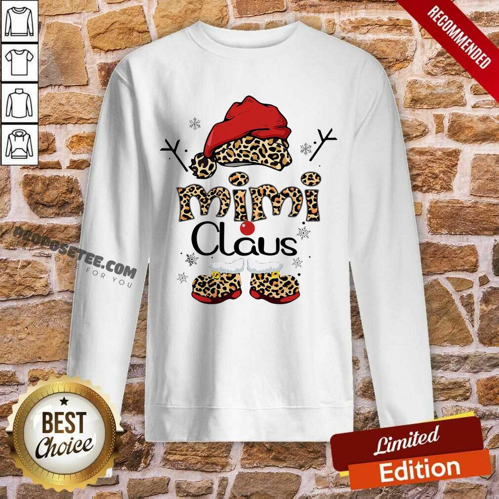 Leopard Mimi Claus Ugly Christmas Sweatshirt-Design By Proposetees.com