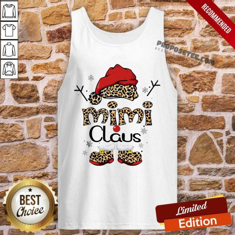 Leopard Mimi Claus Ugly Christmas Tank Top-Design By Proposetees.com