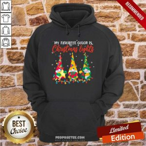 My Favorite Color Is Christmas Light Gnomes Merry Christmas Hoodie-Design By Proposetees.com
