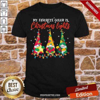 My Favorite Color Is Christmas Light Gnomes Merry Christmas Shirt-Design By Proposetees.com