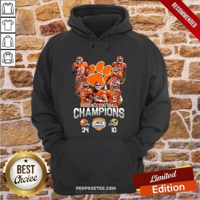 Clemson Tigers 2020 Acc Football Champions Signatures Hoodie-Design By Proposetees.com