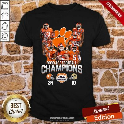 Clemson Tigers 2020 Acc Football Champions Signatures Shirt-Design By Proposetees.com